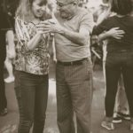 Baby boomer retired couple dancing