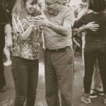 Baby boomer retired couple dancing