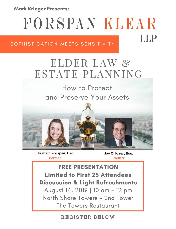 Elder Law & Estate Planning Seminar – North Shore Towers