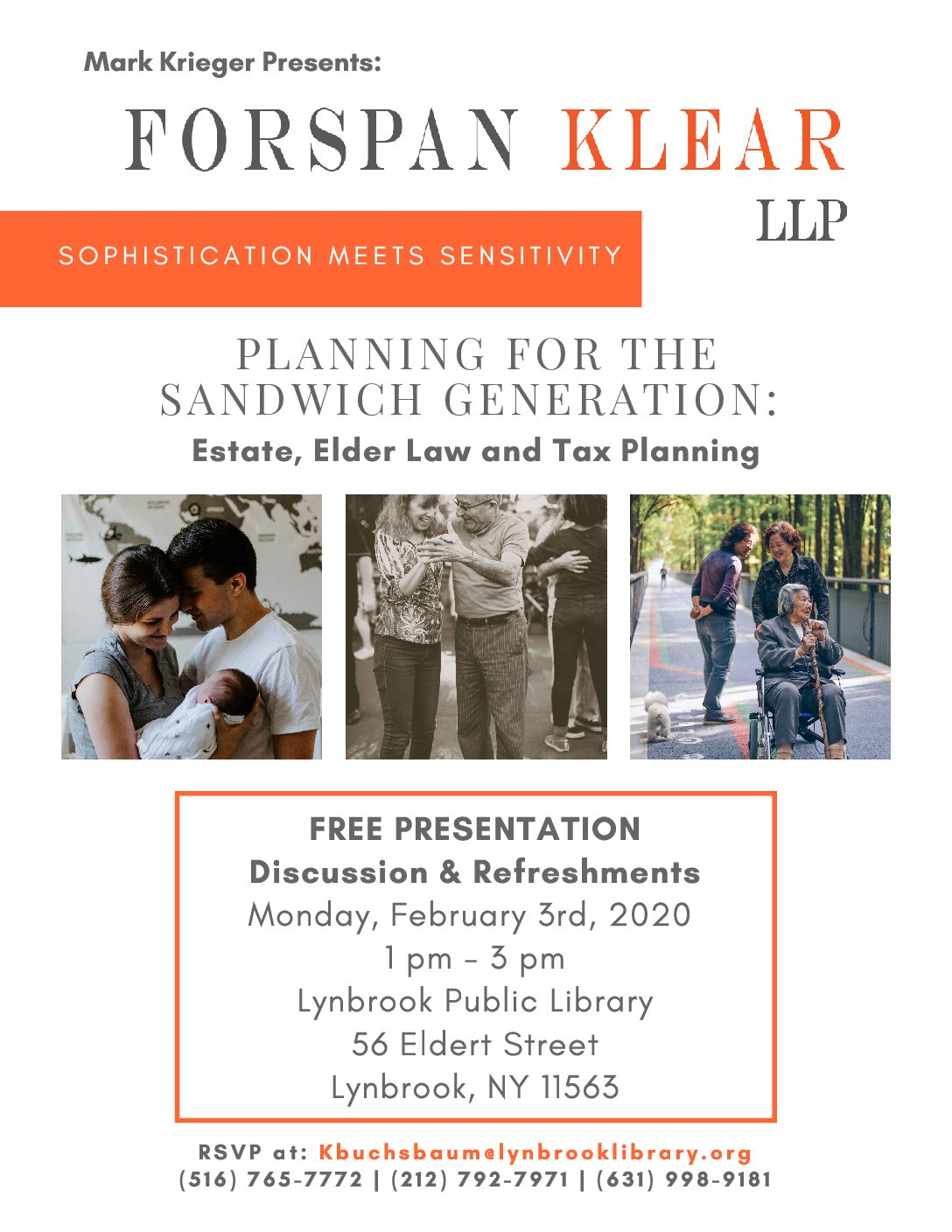 Planning for the Sandwich Generation: Estate, Elder Law and Tax Planning